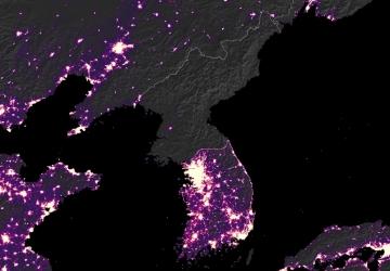 Korean-peninsula-nocturnal-luminosity