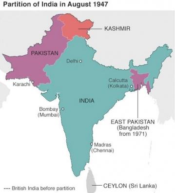Map-around-india